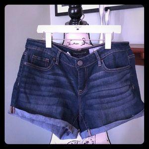 Aeropostale Midi Jean Shorts 6 pair lot